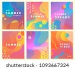unique artistic summer cards... | Shutterstock .eps vector #1093667324
