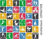 seamless pattern with sport... | Shutterstock . vector #109367258