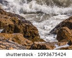 amazing sea with blue summer...   Shutterstock . vector #1093675424
