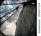 looking up to antique sailing... | Shutterstock . vector #1093677134