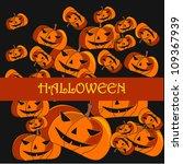 vector halloween  background... | Shutterstock .eps vector #109367939