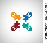 teamwork icon isolated on white ... | Shutterstock .eps vector #1093684580