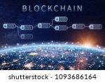 blockchain financial technology ...   Shutterstock . vector #1093686164