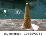 upside down ice cream cone on a ... | Shutterstock . vector #1093690766