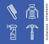 set of 4 tools outline icons... | Shutterstock .eps vector #1093696454