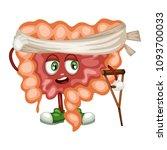 cartoon illustration of a sad... | Shutterstock .eps vector #1093700033