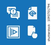 filled set of 4 document icons... | Shutterstock .eps vector #1093701794