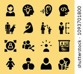 filled set of 16 people icons... | Shutterstock .eps vector #1093701800