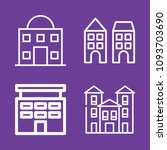 set of 4 apartments outline... | Shutterstock .eps vector #1093703690