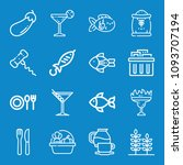 set of 16 food outline icons... | Shutterstock .eps vector #1093707194