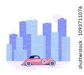 vector illustration retro car... | Shutterstock .eps vector #1093711076