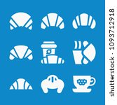 set of 9 croissant filled icons ... | Shutterstock .eps vector #1093712918