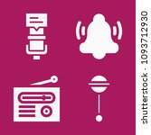 set of 4 sound filled icons... | Shutterstock .eps vector #1093712930