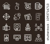 business icon set   outline... | Shutterstock .eps vector #1093716713