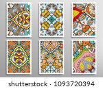 abstract fantasy doodle floral... | Shutterstock .eps vector #1093720394
