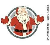 Vintage Santa Claus In A Badge