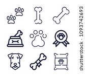 set of 9 dog outline icons such ... | Shutterstock .eps vector #1093742693