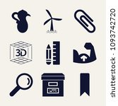 set of 9 other filled icons... | Shutterstock .eps vector #1093742720