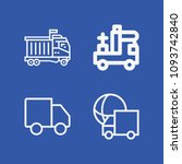 lorry related set of 4 icons...   Shutterstock .eps vector #1093742840
