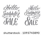 summer holidays quotes. vector... | Shutterstock .eps vector #1093743890