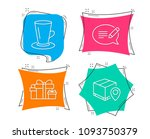 set of teacup  holiday presents ... | Shutterstock .eps vector #1093750379