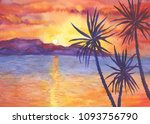 Abstract  Landscape With Palms...