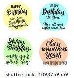 happy birthday. vector... | Shutterstock .eps vector #1093759559