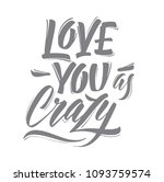love. vector calligraphy... | Shutterstock .eps vector #1093759574
