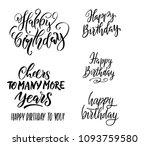 happy birthday. vector... | Shutterstock .eps vector #1093759580