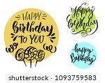 happy birthday. vector... | Shutterstock .eps vector #1093759583