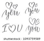 love. vector calligraphy... | Shutterstock .eps vector #1093759589