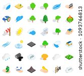 forest icons set. isometric... | Shutterstock . vector #1093766813
