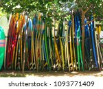 big set of different surfing... | Shutterstock . vector #1093771409