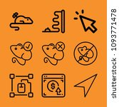 mouse outline set of vector... | Shutterstock .eps vector #1093771478