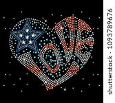 rhinestone applique for t shirt ... | Shutterstock .eps vector #1093789676