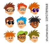 emoji emoticon expression | Shutterstock . vector #1093789868