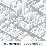 urban district of the city | Shutterstock . vector #1093789889