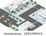 town district of the city | Shutterstock . vector #1093789919