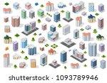 set urban district | Shutterstock . vector #1093789946