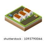 farm isometric dimensional | Shutterstock . vector #1093790066