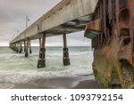 under pacifica municipal pier.... | Shutterstock . vector #1093792154