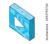 play button isometric icon