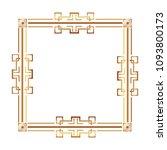 square victorian golden frame   Shutterstock .eps vector #1093800173