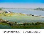 beautiful rural landscape of... | Shutterstock . vector #1093802510