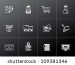 logistic  icon series in... | Shutterstock .eps vector #109381346
