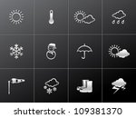 Weather Icon Series In Metalli...