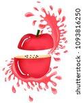apple water in splash  | Shutterstock . vector #1093816250