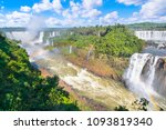 beautiful view of iguazu falls... | Shutterstock . vector #1093819340