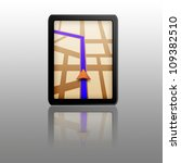 touchpad gps with clipping part   Shutterstock . vector #109382510