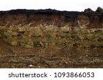 soil cut sandstone  stones ... | Shutterstock . vector #1093866053